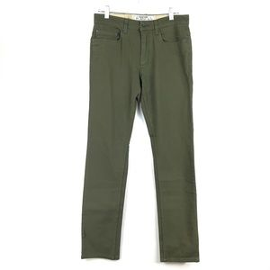 Burton Slim Fit Men's Jeans Olive 30X33 NEW M120